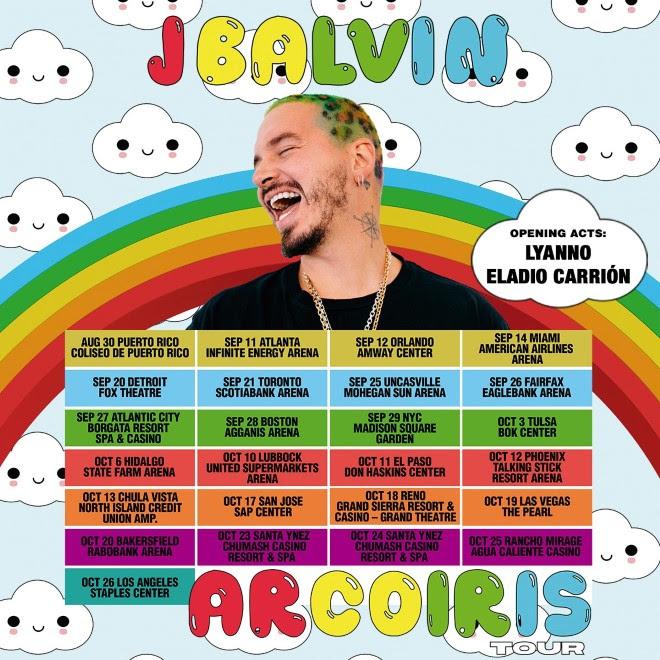 """J Balvin anuncia su gira """"Arcoiris"""""""